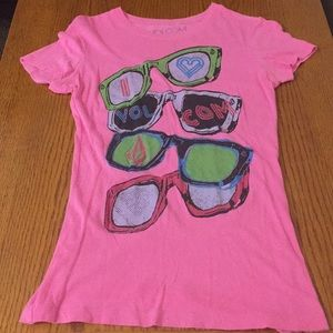 """I love Volcom"" Sunglasses design shirt"